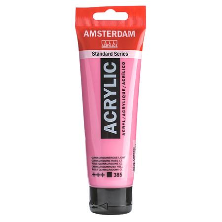 Краска акриловая AMSTERDAM 120 мл (385) Хинакридон розовый светлый 17093852