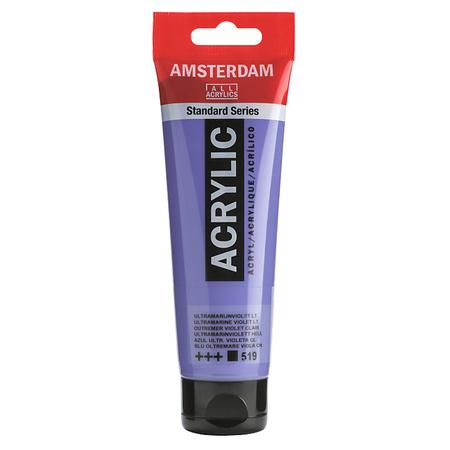 Краска акриловая AMSTERDAM 120 мл (519) Ультрамарин фиолетовый светлый 17095192