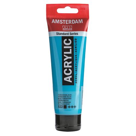 Краска акриловая AMSTERDAM 120 мл (522) Бирюзовый синий 17095222