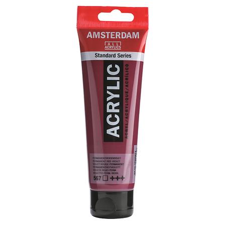 Краска акриловая AMSTERDAM 120 мл (567) Перманентный красно-фиолетовый 17095672
