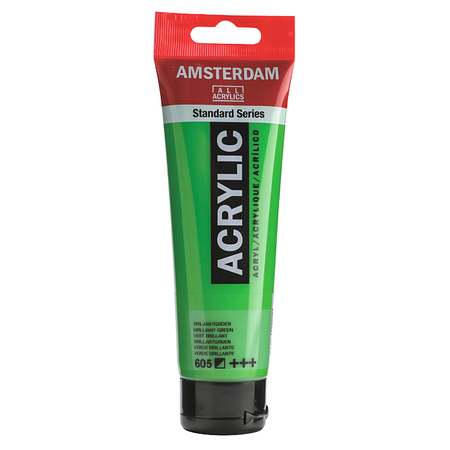 Краска акриловая AMSTERDAM 120 мл (605) Диамантовый зеленый 17096052