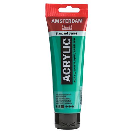 Краска акриловая AMSTERDAM 120 мл (615) Изумрудный зеленый 17096152