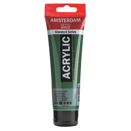 Краска акриловая AMSTERDAM 120 мл (622) Оливковый зеленый темный 17096222