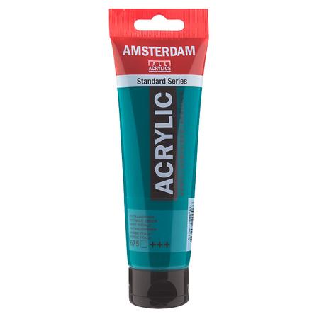 Краска акриловая AMSTERDAM 120 мл (675) Зеленая ФЦ 17096752