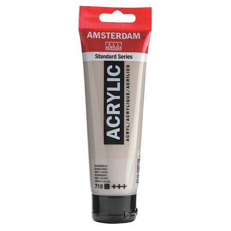 Краска акриловая AMSTERDAM 120 мл (718) Серый теплый 17097182