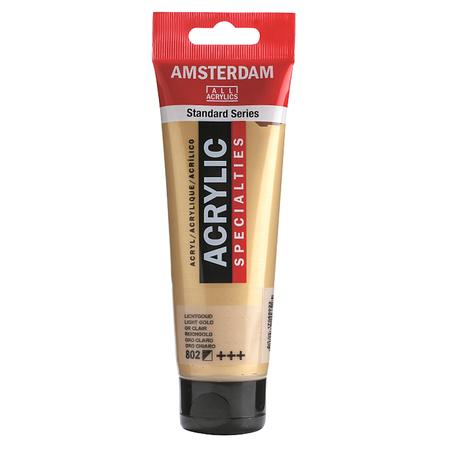 Краска акриловая AMSTERDAM 120 мл (802) Золотой светлый 17098022