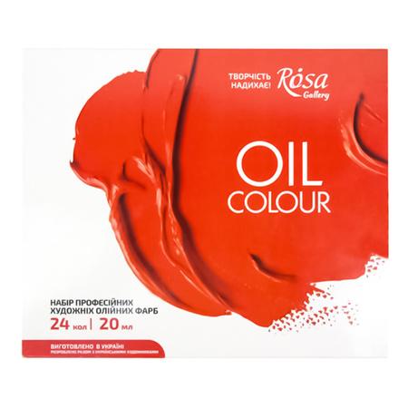 Набор масляных красок ROSA Gallery 24 цвета 20 мл тубы в картоне 131006