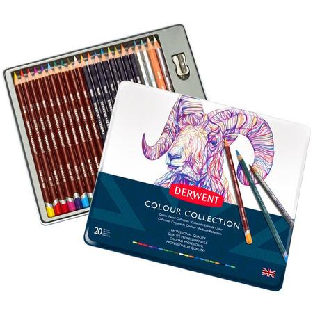 Набор цветных карандашей Derwent Colour Collection 24 предмета в метал. (700212)